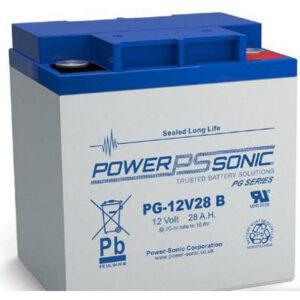 12V 28Ah Powersonic AGM Long Life Sealed Lead Acid (SLA) Battery, PG-12V28B FR