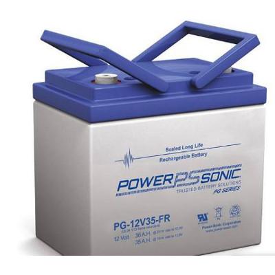 12V 35Ah Powersonic AGM Long Life Sealed Lead Acid (SLA) Battery, PG-12V35 FR