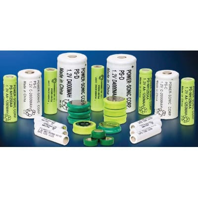 1.2V AA Nickel Metral Hydride - NIMH Quick or Rapid Charge Cylindrical Cell, 1250mAh, Power-Sonic, NH-1250AA