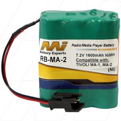 7.2V 1.6Ah Tivoli MA-1 RB-MA-2 Battery
