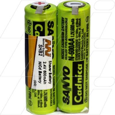 2.4V Windmere RR-3 SHB2 Battery