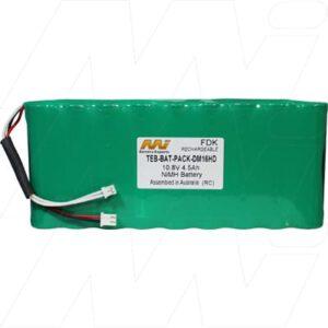Digicube Test Equipment Battery, 10.8V, 4.5Ah, NiMH, TEB-BAT-PACK-DM16HD