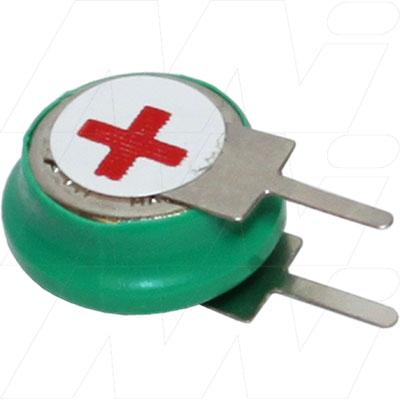 1.2V 40mAh Button / Coin Nickel Metal Hydride - NiMH, V40H/1 S+S-, Varta