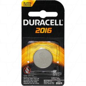 3V 85mAh Button / Coin DL2016B Consumer Lithium Cell, Duracell
