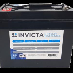 Invicta Lithium 12V 75Ah Battery SNL12V75