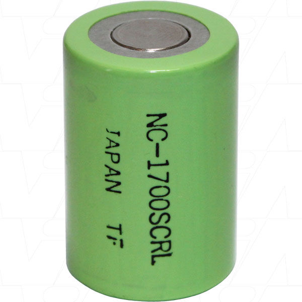 1.2V 1650mAh 4/5SC Nickel Cadmium - NiCd Industrial Fast Charge Cylindrical Cell, Panasonic