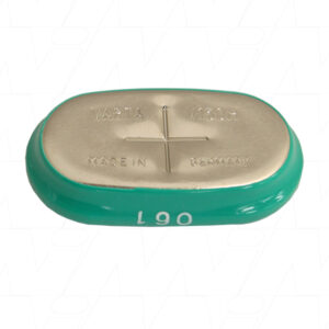 1.2V 140mAh Button / Coin V150H Sleeved Nickel Metal Hydride - NiMH, Varta