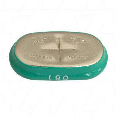 1.2V 140mAh Button / Coin V150H Sleeved Nickel Metal Hydride - NiMH, Varta