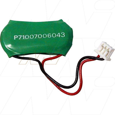 2.4V RBC 15mAh Button / Coin Battery Pack V15H/2 Laptop Nickel Metal Hydride - NIMH, Mst