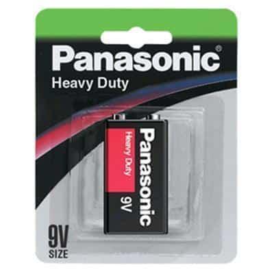 9 VOLT Panasonic Carbon Zinc Heavy Duty 6F22DP/1B Battery, 1 Pack