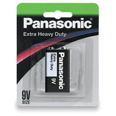9 VOLT Panasonic Carbon Zinc Extra Heavy Duty 6F22NP/1B Battery, 1 Pack