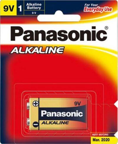 9 VOLT Panasonic Alkaline 6LR61T/1B Battery, 1 Pack