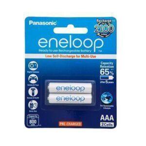 1.2V Eneloop AAA  NiMH RTU Rechargable BK-4MCCE/2BA Panasonic Battery, 2 Pack