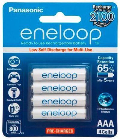 1.2V Eneloop AAA NiMH RTU Rechargable BK-4MCCE/4BA Panasonic Battery, 4 Pack