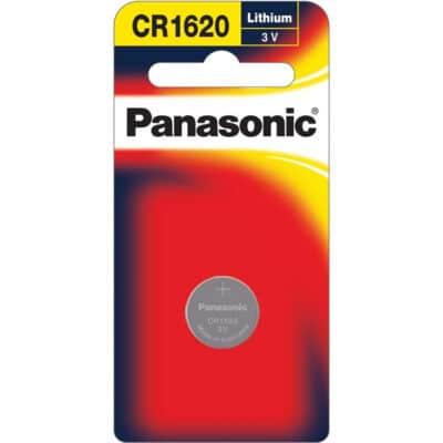 3V 1620 Lithium Coin / Button CR-1620PT/1B Battery, Panasonic, 1 Pack