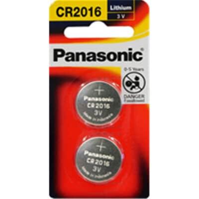 3V 2016 Lithium Coin / Button CR-2016PG/2B Battery, Panasonic, 2 Pack