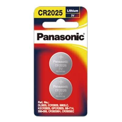 3V 2026 Lithium Coin / Button CR-2025PG/2B Battery, Panasonic, 2 Pack