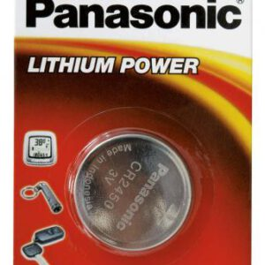 3V 2450 Lithium Coin / Button CR-2450/5BN Battery, Panasonic, 5 Pack