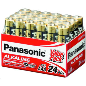 24V AAA Panasonic Alkaline LR03T/24V Battery, 24 Pack