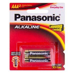 1.5V AAA Panasonic Alkaline LR03T/2B Battery, 2 Pack