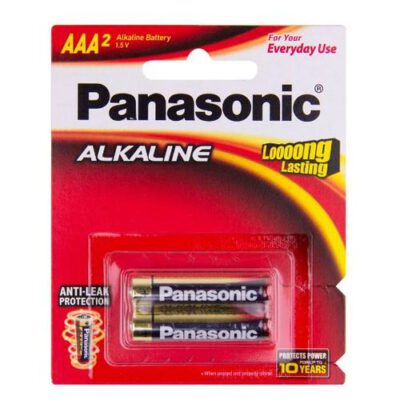 1.5V AAA Panasonic Alkaline LR03T/2B Battery, 2 Pack