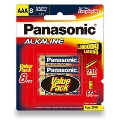 1.5V AAA Panasonic Alkaline LR03T/8B Battery, 8 Pack