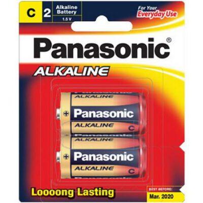1.5V C Size Panasonic Alkaline LR14T/2B Battery, 2 Pack