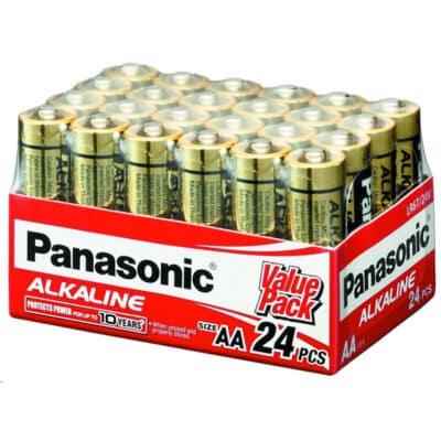 24V AA Panasonic Alkaline LR6T/24V Battery, 24 Pack