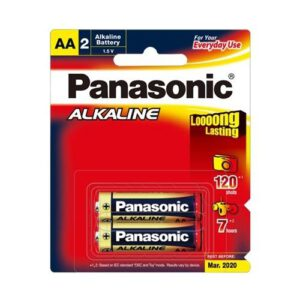 1.5V AA Panasonic Alkaline LR6T/2B Battery, 2 Pack
