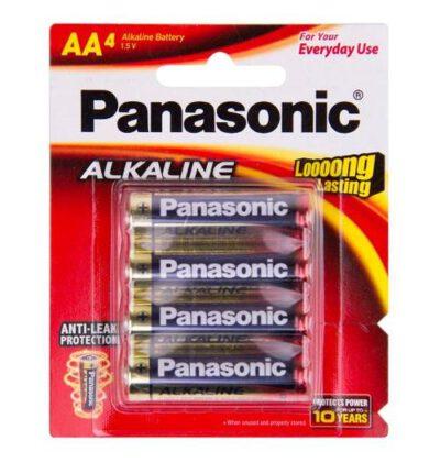 1.5V AA Panasonic Alkaline LR6T/4B Battery, 4 Pack