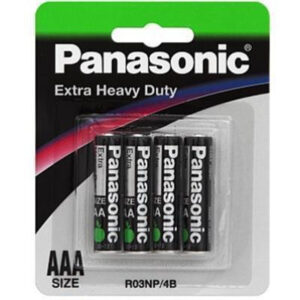 1.5V AAA Panasonic Carbon Zinc Extra Heavy Duty R03NP/4B Battery, 4 Pack