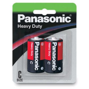 1.5V C Size Panasonic Carbon Zinc Heavy Duty R14DP/2B Battery, 2 Pack