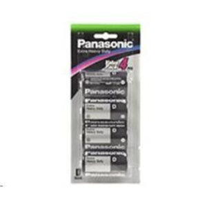 1.5V D Size Panasonic Carbon Zinc Extra Heavy Duty R20NP/4B Battery, 4 Pack
