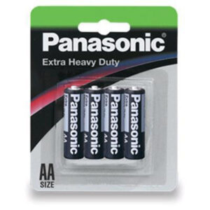 1.5V AA Panasonic Carbon Zinc Extra Heavy Duty R6NP/4B Battery, 4 Pack