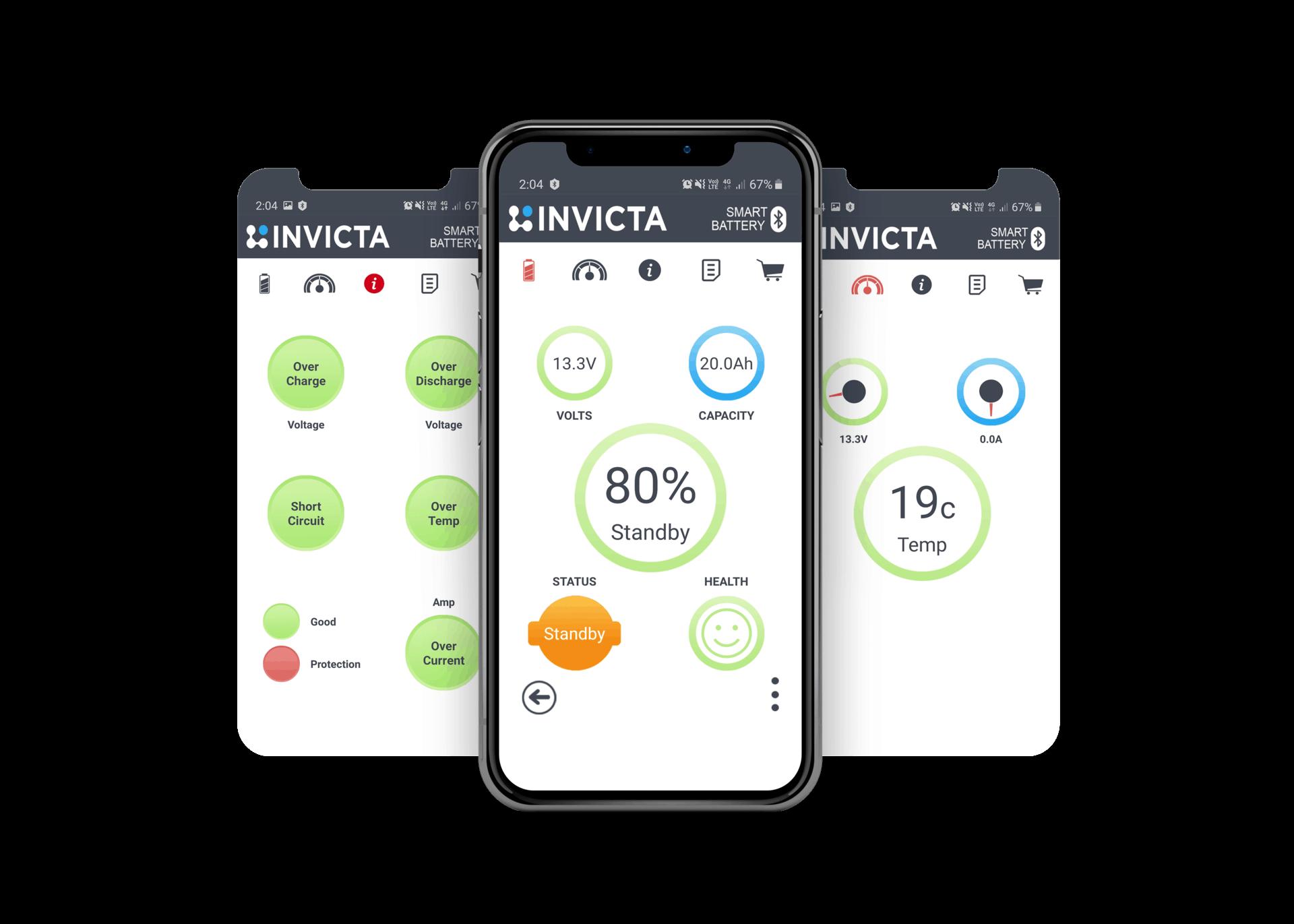 INVICTA Battery Bluetooth Screen