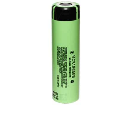 3.6V Lithium Ion High Capacity Cylindrical Battery 3.4Ah, Panasonic, NCR18650B
