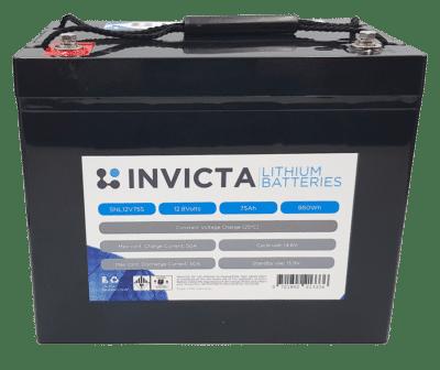 Invicta Lithium Iron Phosphate 12V 75Ah Battery SNL12V75