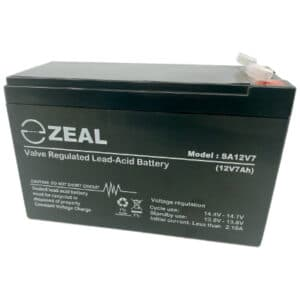 ZEAL SA12V7 12V 7Ah VRLA AGM Battery