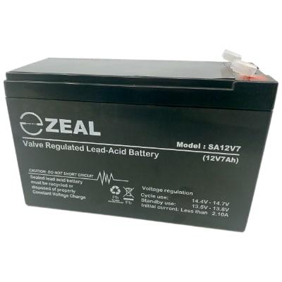 ZEAL SA12V7 12V 7Ah VRLA AGM Battery