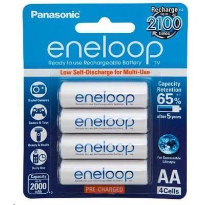 Panasonic Eneloop BK-3MCCEA AA Rechargeable Battery 4 Pack