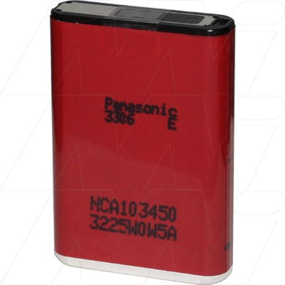 Panasonic NCA103450 Prismatic Lithium Ion Rechargeable Battery