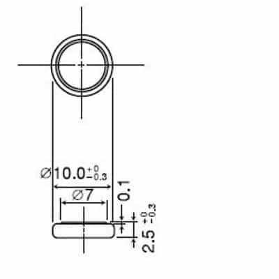 Panasonic CR1025 dimensions