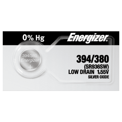 Energizer 394 380 V394 Silver Oxide Button Watch Battery