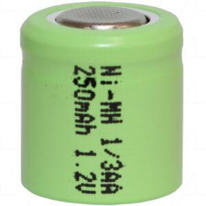1.2V 250mAh 1/3AA Nickel Metal Hydride - NIMH Industrial Cylindrical Cell, Ionix, H250-1/3AA