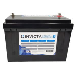 Invicta Lithium 12V 125Ah Bluetooth Lithium Motorhome battery